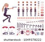 secret agent woman  lady spy of ... | Shutterstock .eps vector #1049378222