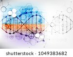 science template  wallpaper or... | Shutterstock .eps vector #1049383682
