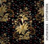 Vector Golden Seamless Pattern...