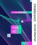 minimal line cover design with... | Shutterstock .eps vector #1049388062