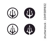 circular trident logo design... | Shutterstock .eps vector #1049389832