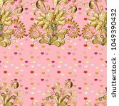 vector seamless pattern with... | Shutterstock .eps vector #1049390432
