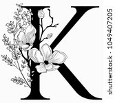 vector hand drawn floral k... | Shutterstock .eps vector #1049407205