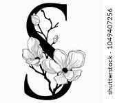 vector hand drawn floral s...   Shutterstock .eps vector #1049407256