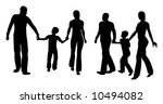 family with son walking... | Shutterstock .eps vector #10494082