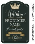 vector label for whiskey... | Shutterstock .eps vector #1049408822