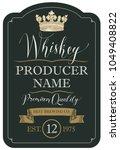 vector label for whiskey... | Shutterstock .eps vector #1049408822