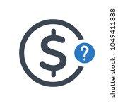 asking for money icon. finance... | Shutterstock .eps vector #1049411888