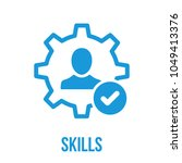 skills icon with check sign....   Shutterstock .eps vector #1049413376