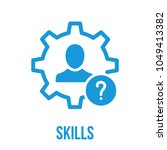 skills icon with question mark. ...   Shutterstock .eps vector #1049413382