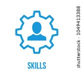 skills  capability  talent icon.... | Shutterstock .eps vector #1049413388