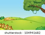 Illustration Of A Field And A...