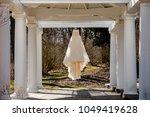 wedding dress. wedding dress on ...   Shutterstock . vector #1049419628