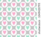cute seamless vector pattern... | Shutterstock .eps vector #1049420795