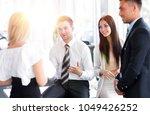 business team discussing... | Shutterstock . vector #1049426252