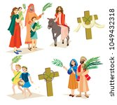 religion holiday palm sunday... | Shutterstock . vector #1049432318
