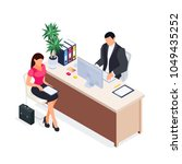 isometric concept of job... | Shutterstock .eps vector #1049435252