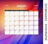 august 2018. calendar planner... | Shutterstock .eps vector #1049438132