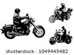 Vintage Motorcycles Sketch...