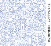 space white line seamless... | Shutterstock .eps vector #1049447846