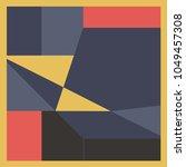 geometric scarf design | Shutterstock .eps vector #1049457308