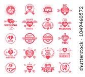 love symbols for wedding day.... | Shutterstock .eps vector #1049460572