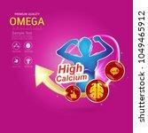 kids omega calcium and vitamin  ... | Shutterstock .eps vector #1049465912