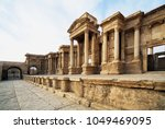 palmyra  syria  the pearl of... | Shutterstock . vector #1049469095