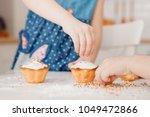 children with their hands... | Shutterstock . vector #1049472866