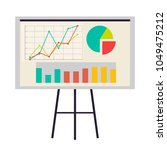 office board with charts and... | Shutterstock .eps vector #1049475212