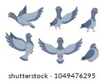 vector collection of cartoon... | Shutterstock .eps vector #1049476295
