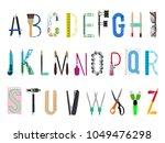 english alphabet from office... | Shutterstock .eps vector #1049476298