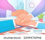 team work concept colorful ...   Shutterstock .eps vector #1049476946