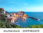magical landscape with boats in ...   Shutterstock . vector #1049482655