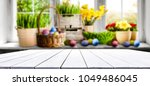 table background and easter... | Shutterstock . vector #1049486045