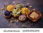 natural alternative herbal... | Shutterstock . vector #1049490395
