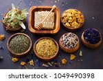 natural alternative herbal... | Shutterstock . vector #1049490398