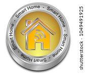 smart home button   Shutterstock . vector #1049491925