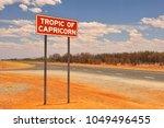tropic of capricorn metal sign... | Shutterstock . vector #1049496455