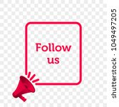 follow us message quote in... | Shutterstock .eps vector #1049497205