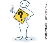 stick figure with a sign with a ...   Shutterstock .eps vector #1049497712