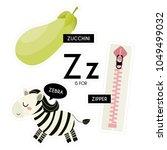 kids alphabet. letter z. vector ... | Shutterstock .eps vector #1049499032