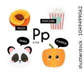 kids alphabet. letter p. vector ... | Shutterstock .eps vector #1049499062