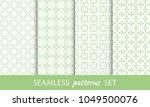set of seamless line patterns....   Shutterstock .eps vector #1049500076