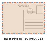 postal card  isolated on white... | Shutterstock .eps vector #1049507315