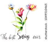 original summer flowers with... | Shutterstock . vector #1049510465