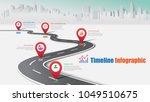 business road map timeline... | Shutterstock .eps vector #1049510675
