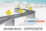 business road map timeline... | Shutterstock .eps vector #1049510678