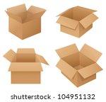 illustration of cardboard boxes ... | Shutterstock . vector #104951132