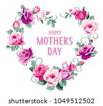 happy mothers day text.... | Shutterstock .eps vector #1049512502
